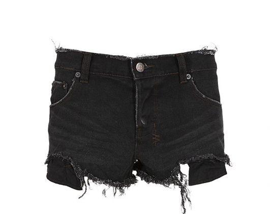 Kate Moss style - Short en jean déchiré by Ksubi
