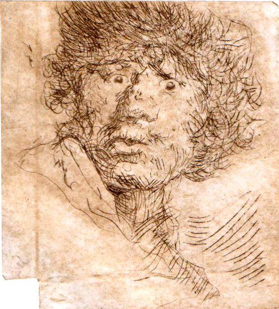 copy of rembrandt graphic.(drypint)