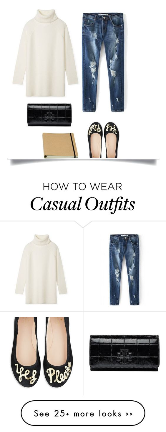 """Casual Fall Style"" by bjigg on Polyvore featuring Kate Spade and Tory Burch:"