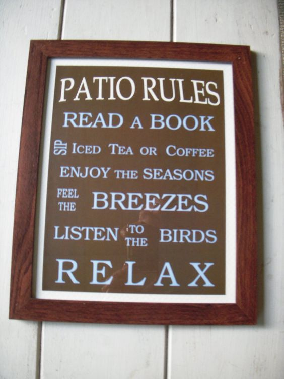 Patio/Deck rules... :)