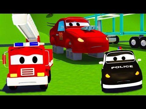 La Super Patrulla Camion De Bomberos Y Patrulla De Policia Y Los Neumaticos Robados En Auto City Youtube Camion De Bomberos Dibujos De Autos Autos