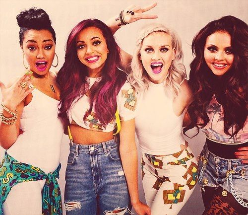Little Mix Group members: (from left to right) Leigh-Anne Pinnock, Jade Thirlwall, Perrie Edwards, & Jesy Nelson.