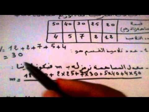 الاحصاء تعرف المعدل الحسابي والمنوال الاعدادي Youtube Math Youtube Math Equations