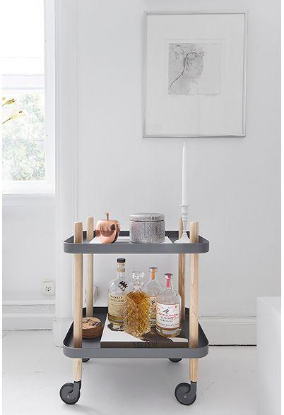 desserte block bar on wheels grey and mini bars. Black Bedroom Furniture Sets. Home Design Ideas
