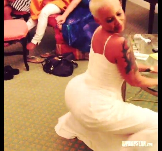 Amber Rose Posted a Twerk Video from her Bridal Shower Hours before Wedding to Wiz