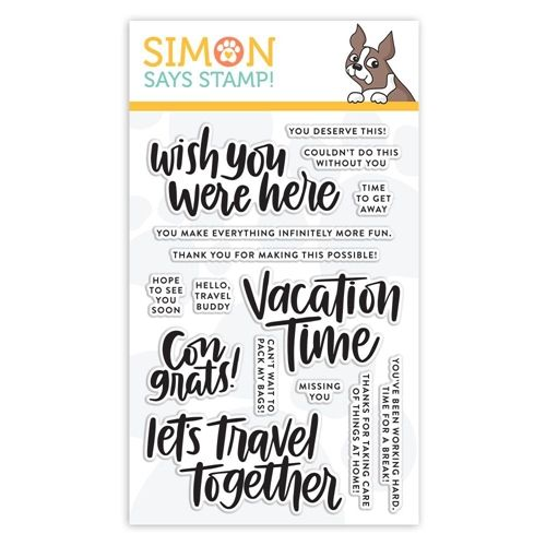 Simon Says Clear Stamps Vacation Time Sss101855 Good Vibes Preview Image Clear Stamps Simon Says Simon Says Stamp