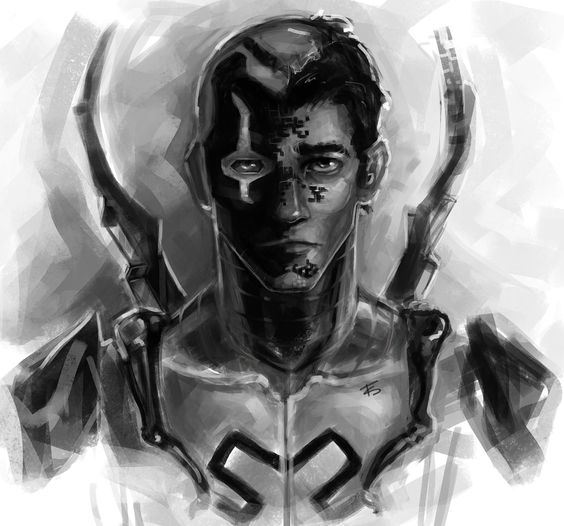 mcfeegle : How about YJ Blue Beetle? He's my fav. – Hope you like itttt, I love blue beetle too so it was fun to do :D High res here.