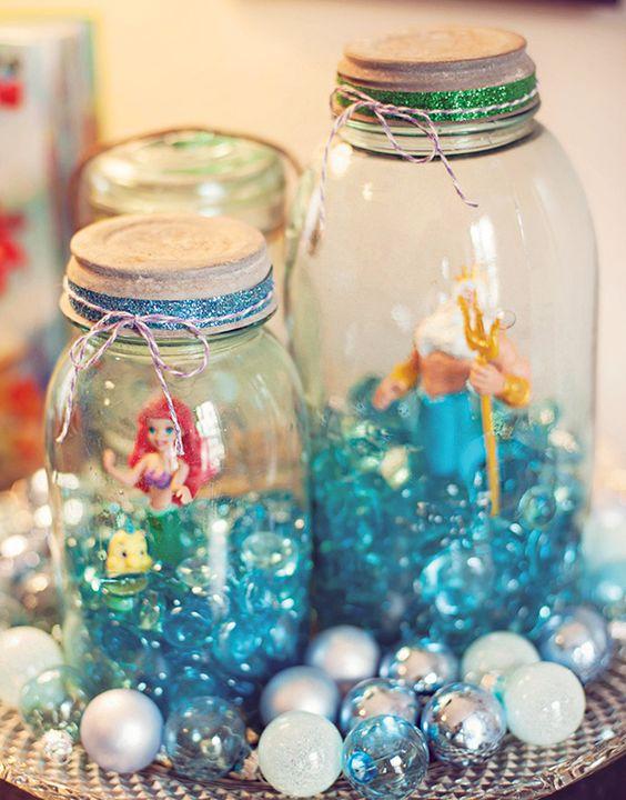 Outra ideia para decoração com potes de vidro