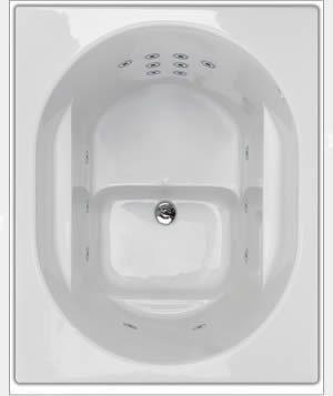 Oronsay bath deep soaking bathtub whirlpool bath deep for Japanese whirlpool tub