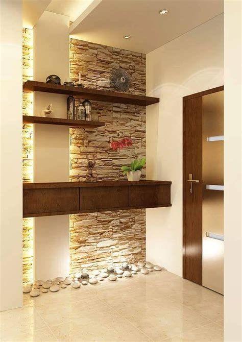 Modern Kitchen Interior Design India Variant Living Stone Wall Interior Design Interior Wall Design Stone Walls Interior