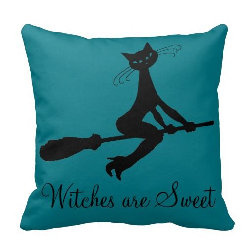 Witches Are Sweet Cat On Broomstick