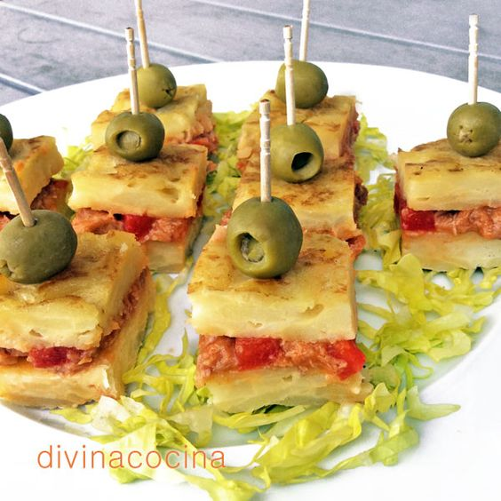 Pinchos de tortilla for Divina cocina canapes
