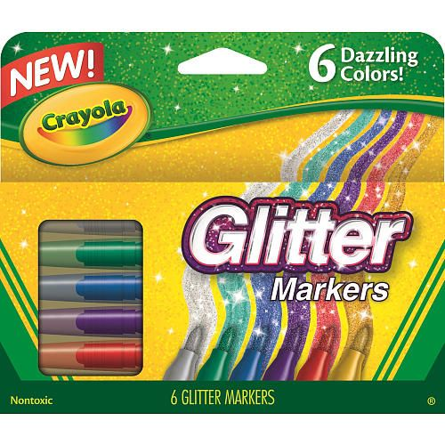 """Crayola 6-Count Glitter Markers - Crayola - Toys """"R"""" Us"""