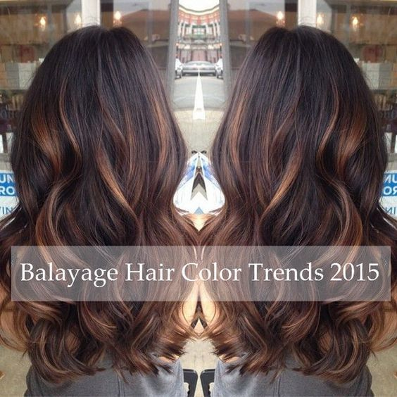 caramel brown balayage hair with lighlights 2015