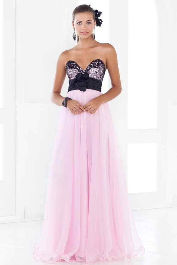 Black and light pink homecoming dresses