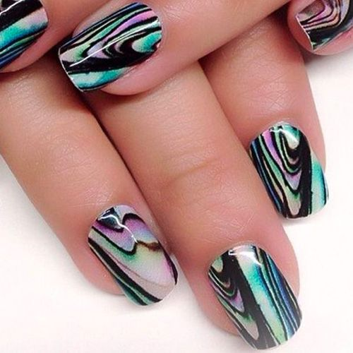Accessory Art Awesome Designs Marble Nail Season Water Youll 40 Awesome Water Marble Nail Art In 2020 Water Marble Nail Art Marble Nail Art Water Marble Nails