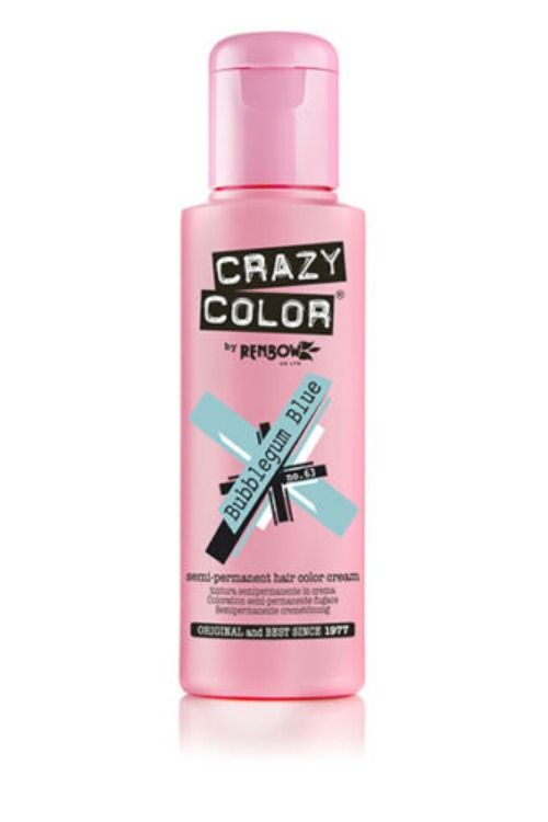 Crazy Color Renbow Semi Permanent Hair Color Cream Dye 100ml