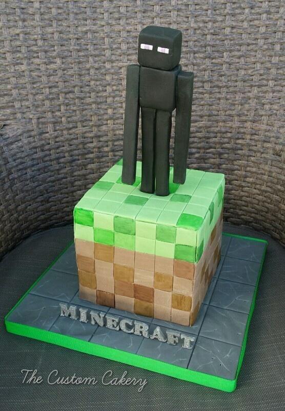 Minecraft Endermen - Cake by The Custom Cakery