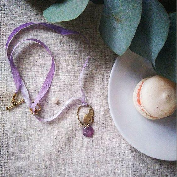 Cute purple  Космическая бусина с серебристым узором, маленькая кошка и нежный переход тона на шелке #catshop #jewellery #handcraft #metalsmith #sweet #tenderness #cute #love #beads #purple #gradient #cat #style #necklace #silk #brass #romantic #madeinukrain #flowers #flatly #vscoua #vsocam