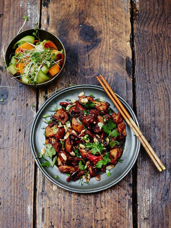 Kung Pao chicken - a classic Chinese dish from the Szechuan province – spicy, slightly sweet and incredibly delicious