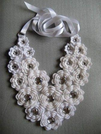 croche1 max colar rosa croche.jpg :: Maravilhas do artesanato