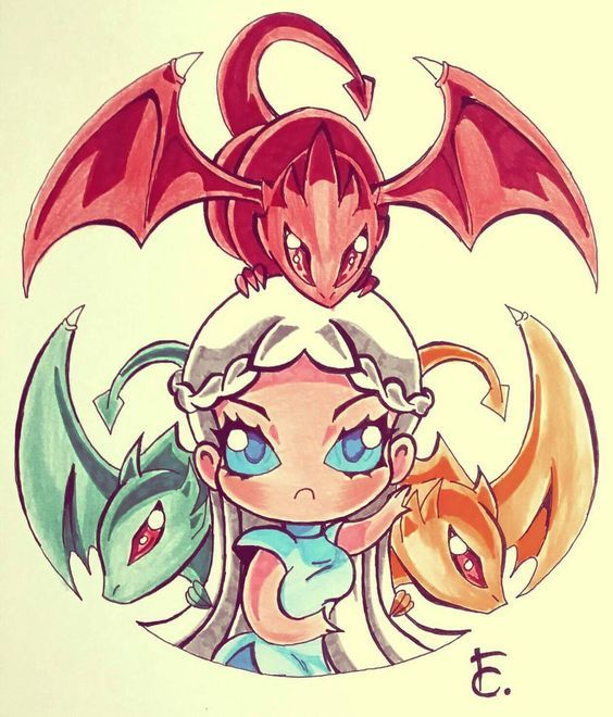 Chibi Daenerys Game Of Thrones By Randevouz Chibi Dragoes