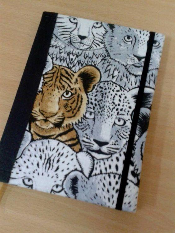 Cuadernos Artesanales #HUMABindery diseños únicos, personalizados. Buscanos en Facebook y Twitter! #Tigers