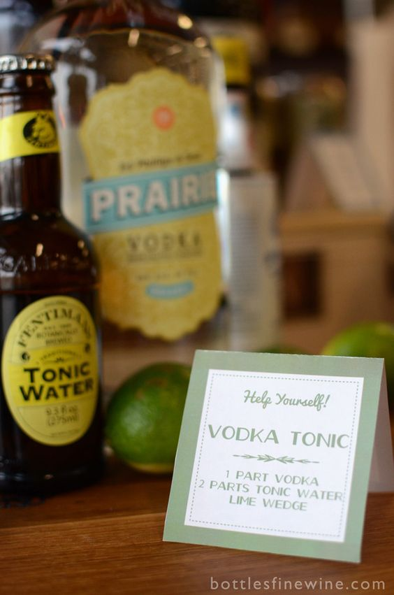 vodka tonic cocktail recipe idea
