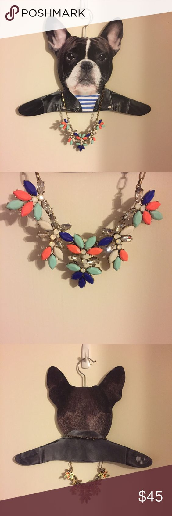 J.crew like new statement necklace Only worn a couple of times. Fun bold color story J. Crew Jewelry Necklaces