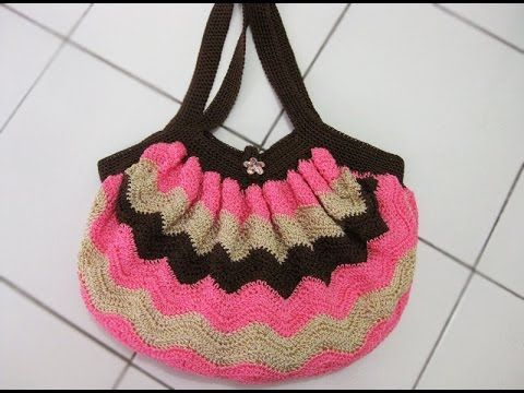Crochet || Tutorial Merajut Tas Cantik Motif Zig-zag - Chevron Stitch