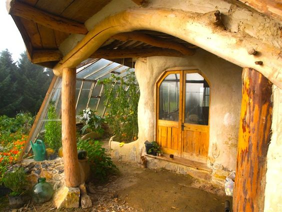 Cob house with green house!