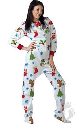Onesie footed pajamas in adult and teen sizes with Christmas and ...
