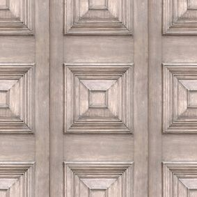 Bleached Oak Victorian Panelling Wallpaper- All the ambience of age, and the…