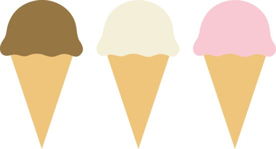 Simple Cute Ice Cream Cones