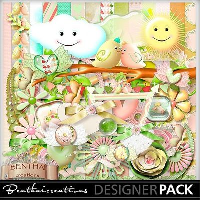 Spring in Our Hearts: Creative Crafts, Digital Scrapbooking, Scrapbook Kit, Paper Crafting, Digiscrapbooking Products, Craft Elem