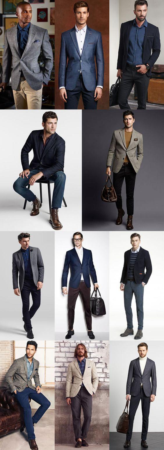Key Pieces For Autumn Business-Casual : Navy Blazers, Grey Tweed Blazers, Beige Cotton Blazers Lookbook Inspiration
