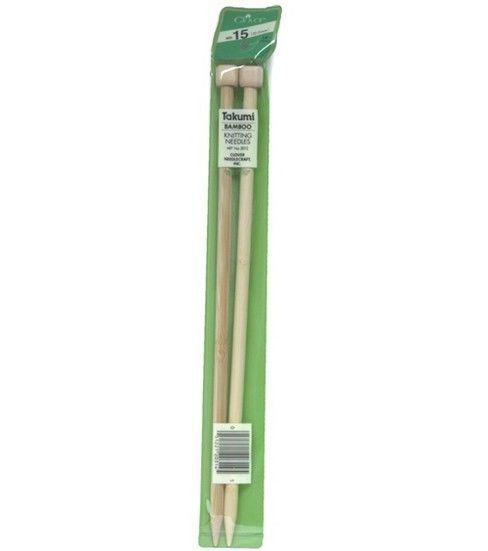 "Clover Takumi Bamboo Knit Needle-Single Pt. 13""-Size 15"