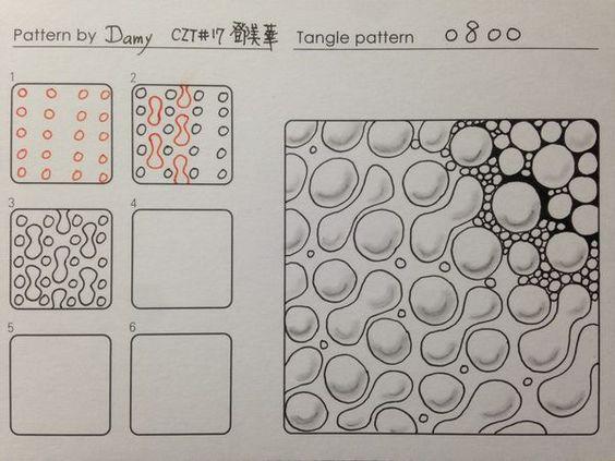 Tangle pattern: