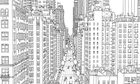 Fantastic Cities The Most Intricate All Ages Colouring Book Yet Fantastic Cities Coloring Book Coloring Books Urban Landscape