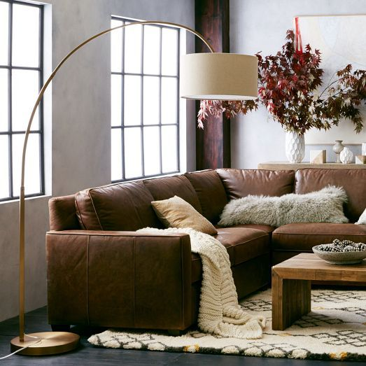 Lamp with warm rug and throws