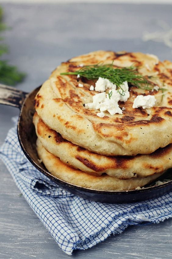 Cheese and dill Pan fried pie