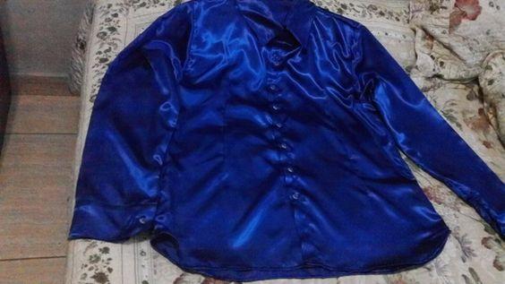 Camisa de cetim comlaycra R$ 70,00
