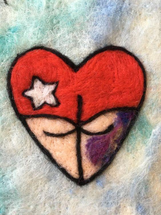 ROLLER DERBY CRAFTS! Old School Tattoo Derby Girl Heart by AHeartFitToBurst on Etsy