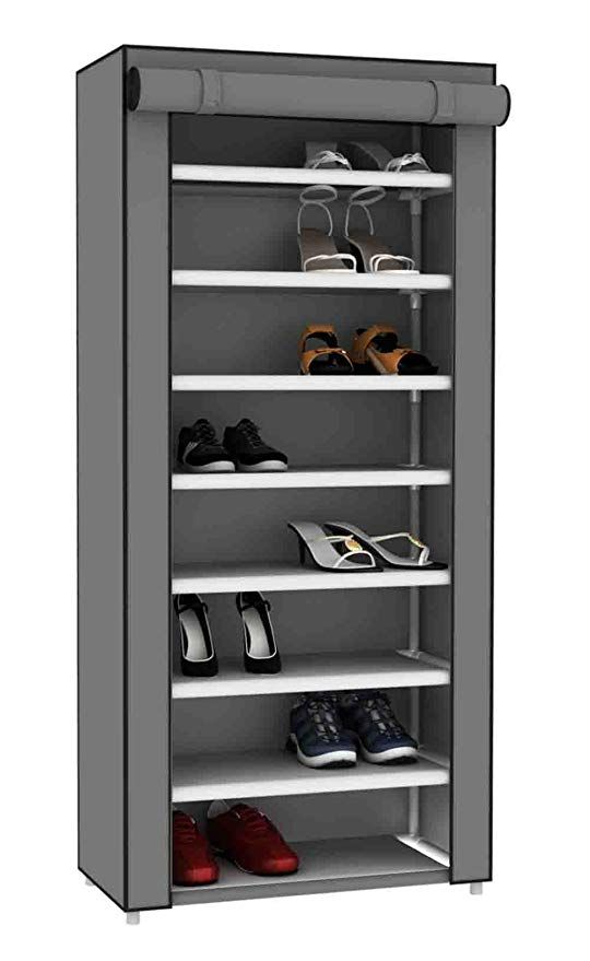 Sunbeam Multipurpose Portable Wardrobe Storage Closet Rack For Shoes And Clothing 7 Tier Fits 24 Pairs Of S Shoe Rack Wardrobe Closet Storage Portable Wardrobe