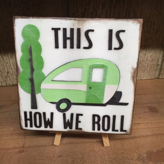 This Is How We Roll  Reclaimed wood tile  by WellHungDesigns