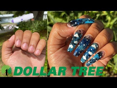 13 Acrylic Nails At Home All Products Drill Acrylic Etc From Dollar Store Not Clickbait Youtube In 2020 Acrylic Nails At Home Nails At Home Cotton Candy Nails