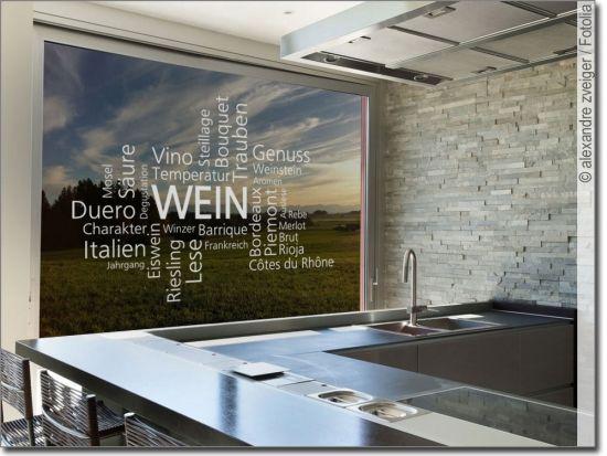 Fenstertattoo Wein Fenstertattoo Dekor Glas