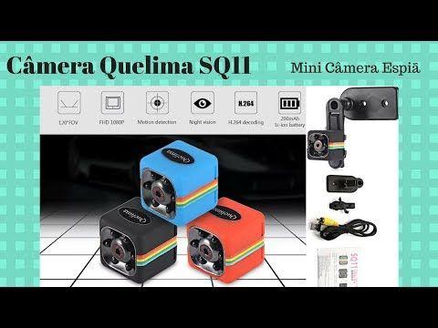Como Usar Mini Câmera Espiã Quelima Sq11 1080p Filma Com Som E Fotografa Unboxing E Review Youtube Câmera Espiã Câmera Mini
