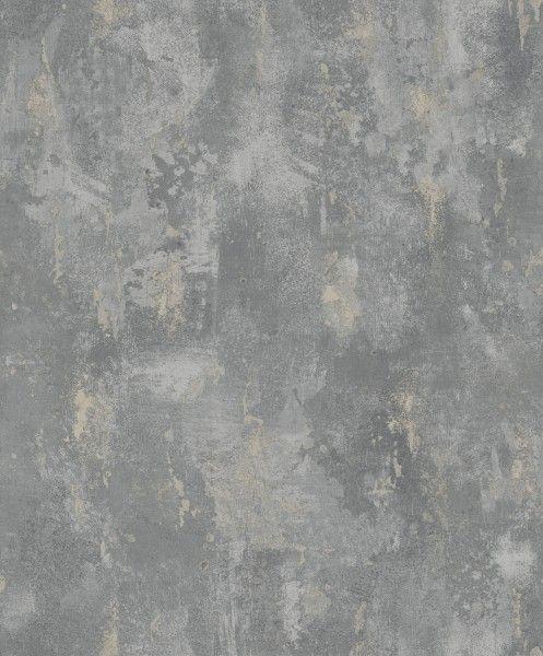 Vlies Tapete Uni Beton Stein Optik dunkel grau bronze metallic ON4201 industrial