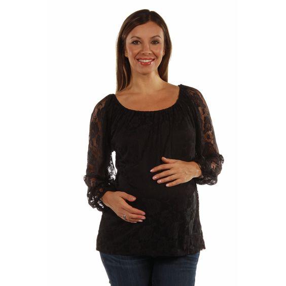 24/7 Comfort Apparel She's So Pretty Maternity Tunic Top
